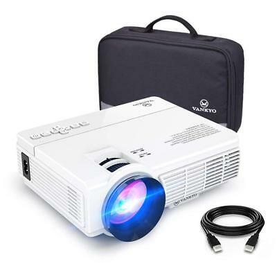 Vankyo Leisure 3 ( Upgraded Version ) 2400 Lux LED HD Portable Projector WHITE