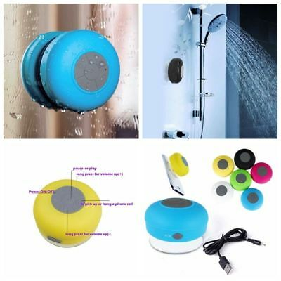 Fashion Wireless Bluetooth Car Waterproof Mic Suction Mini Speaker Shower F