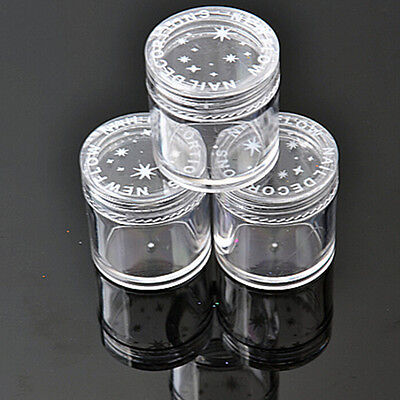 10x Plastic  Clear Empty Nail Art Storage Box Rhinestone Bead Container Great JF