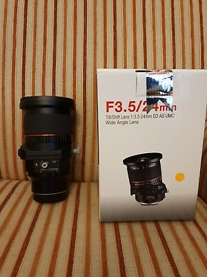 Samyang 24mm f/3.5 ED AS UMC Tilt-Shift Manual Lens for Fuji - Only Used Once