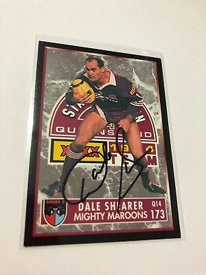 1994 Dynamic Series 2 Signed Common Card - Dale Shearer - Qld Maroons