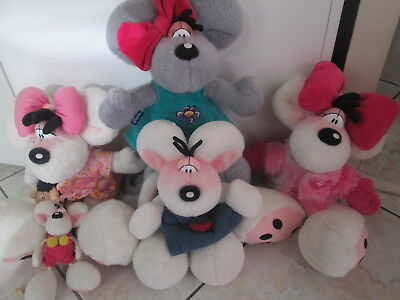 Collection Lot 5 Peluches Veritables Diddl Diddlina 35 Cm Parfait Etat