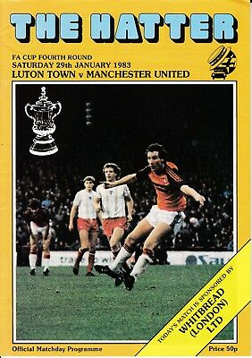 Luton Town v Manchester United FA Cup 4th Round 1982/83