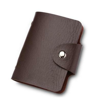 PU Leather Card ID Credit Card Business Name Holder Book Case Keeper Organizer