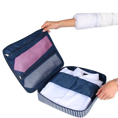 Packing Portable Travel Luggage Organizer With Zipper Clothes Storage N7