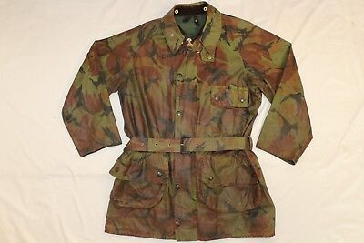 "Barbour ""the Military"" Dpm Camo British Army Waxed Jacket Coat 40 Solway Zipper"