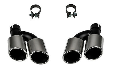 Tailpipe Exhaust End Pipe Duplex S-LOOK for Audi A4 B8 V8 Look Conversion