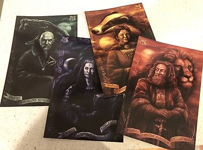 Loot Crate wizarding world House Founder Frameable Cards Harry Potter