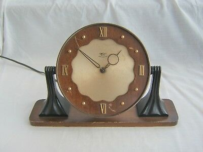 Vintage SMITHS SECTRIC electric Clock for spares or repair - art deco