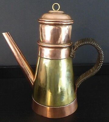 Vintage Copper And Brass Coffee Pot / Kettle - Arts And Crafts ?