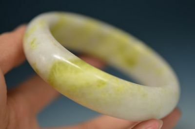 EXCELLENT CHINESE NATURAL LANTIAN JADE CARVED BEAUTIFUL BRACELET BANGLE  mm13