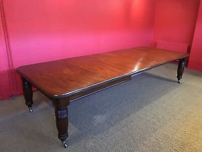 12ft Opulent, 1831-1901, Grand English Victorian Cuban mahogany dining table