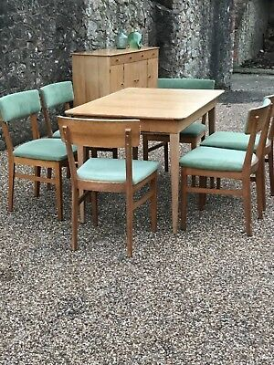 Sale - Mid century table and six chairs Gordon Russell for heals of london
