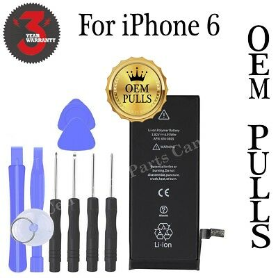** OEM PULLS ** iPhone 6 Battery 1810mAh with Free Tools & 3 Year Warranty
