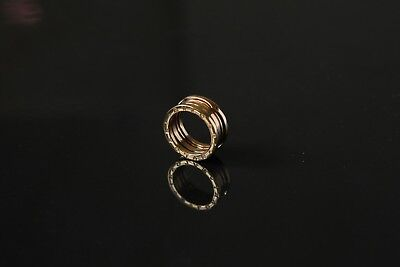 Authentic Bvlgari B-ZERO  Ring 2 Band in 18k Yellow Gold Size 53  9.41g