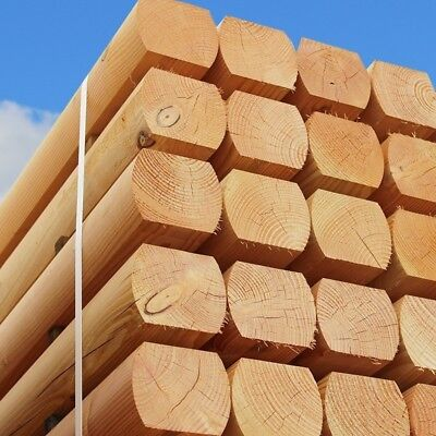 Pack of 80 Larch Machine Moulded Sleepers 1.2m x 120mm x 100mm FREE DELIVERY