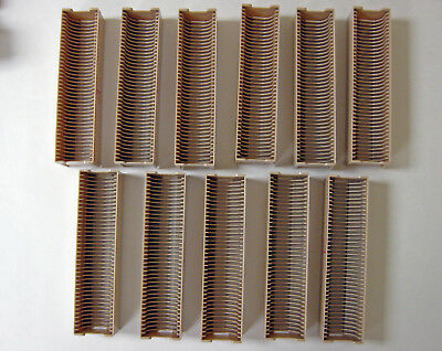 Lot of 11 ANSCO 40 Slot Slide Trays - each with Cover + Custom Box to hold all