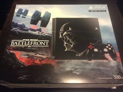 Collectors Sony PlayStation 4 Star Wars Battlefront Bundle 500GB Console w/Vadar