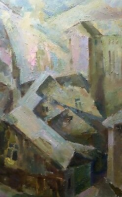 Original oil painting on canvas Author`s style Art Abstract landscape by Lozovoy