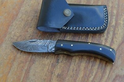 damascus custom made beautiful  folding knife From The Eagle Collection MH2339g