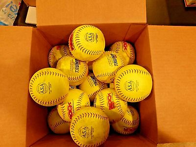 30 12 inch Slowpitch Trump Yellow Softball- Great Condition