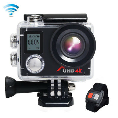 """Campark ACT76 Sport Action Cam WiFi 4K 16MP 2"""" LCD Dual Display w/Remote Control"""