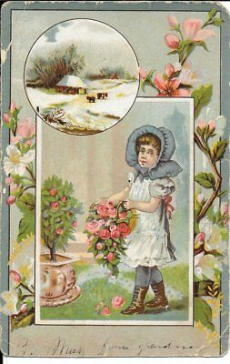 Extension Corset Antique Advertising Card*turn Of The Century