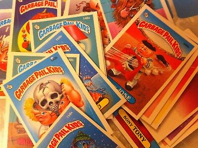 Package of 90 Vintage GARBAGE PAIL KIDS Cards and Stickers-1986 TOPPS