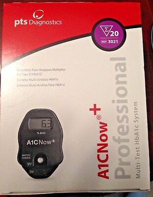 A1CNow+ System Monitor w/20 Strips pts Diagnostics NEW
