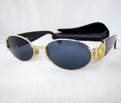 601fc854ce Gianni Versace S72 sunglasses vintage gold silver gray oval medusa head  vintage