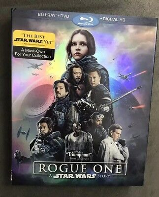Rogue One: A Star Wars Story (Blu-ray/DVD, 3-Disc Set Like New