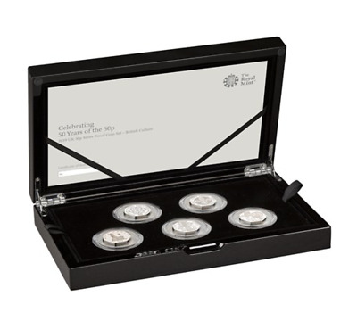 2019 ROYAL MINT 5 COIN SILVER PROOF 50p CULTURE SET INCL. KEW GARDENS *SOLD OUT*