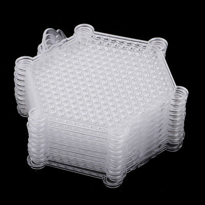 10Pcs Beads Pegboards Square Hexagon Template For Perler Beads Hama Beads
