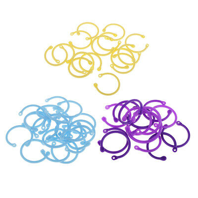 16pcs Binder Buckle Ring Loose Leaf Plastic Book Binder Rings for Sketchbook