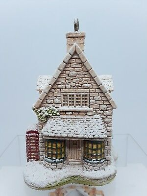 Lilliput Lane Ivy House 1994 Snow Ornament Christmas Collection New Box - Deed