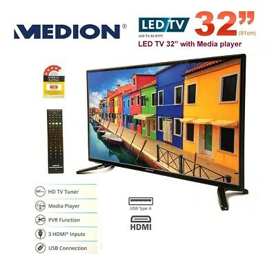 """Refurbished MEDION 80cm (32"""") HD LED LCD TV with DVD Player"""