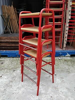 Vintage Stacking School Lab Stools - 40 Available