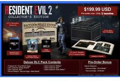 Resident Evil 2 Remake Collector's Edition PS4 Fast Shipping! In Stock!