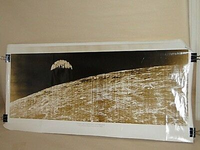 Vintage 1966 Boeing NASA First Photo Of Earth From Space Glossy Photo Poster
