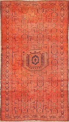 Pre1900 Collectible Geometric Antique 5x9 Wool Kazak Russian Oriental Area Rug