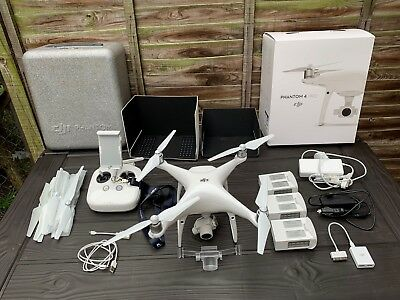 DJI Phantom 4 Pro, with 3 extra batteries and other extras