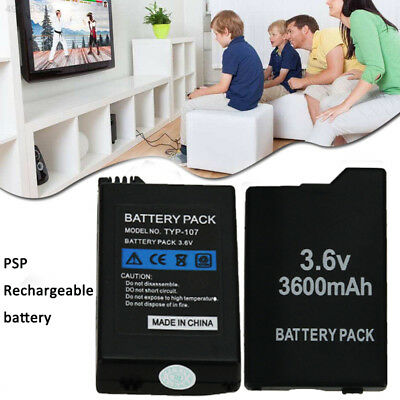 LOT 3.6V 3600mAh Battery Pack + Wall Charger for Sony PSP 2000 2001Slim Series