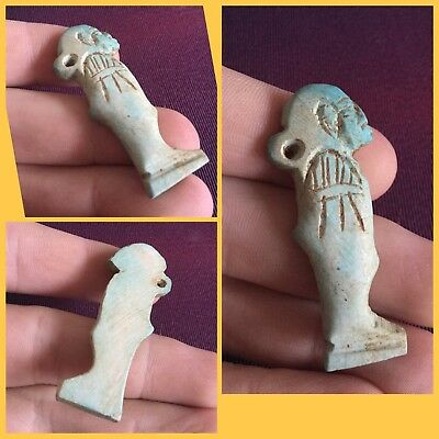 Rare ancient Egyptian blue Pharaoh amulet. ,300 bci