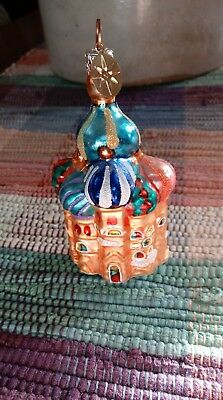 """Christopher Radko Ornament - Lovely Russian Basil Razzle Cathedral 3 3/4"""""""