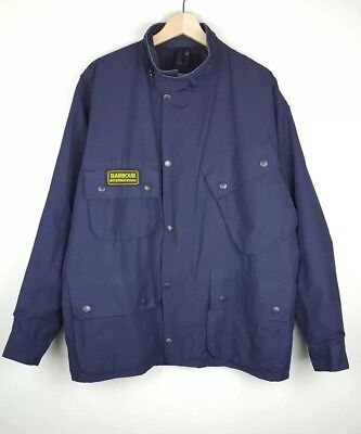 Barbour International Mens Jacket Waxed Cotton Size 44