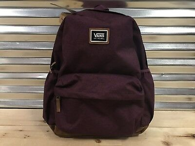 8673e685be2 Vans Womens Realm Plus Backpack Prune Burgundy Red Tan ( VN0A34GL7D5 ) NWT!