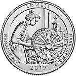 2019 S Lowell National Historical Park Quarter (MA)
