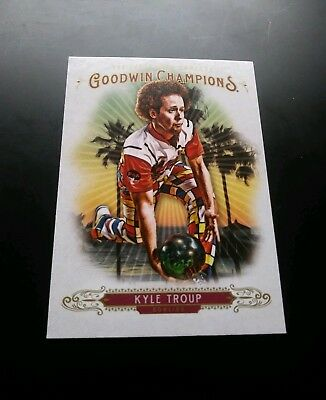 Kyle Troup #32 Goodwin Champions Upper Deck 2018 Trading Card Karte Bowling