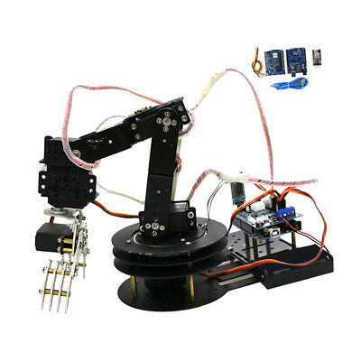5 Axis Metal Robot Robotic Mechanical Clamp Arm Kit Servo For Arduino WIFI