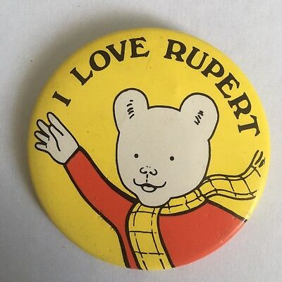 I Love Rupert Pin Badge (see pics) Rupert The Bear